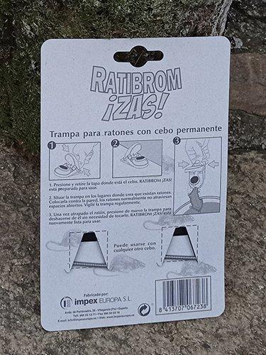 Instrucciones de trampa para ratones, Ratribrom con cebo permanente