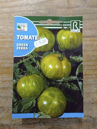 Semillas para plantar Tomate verde green zebra marca Rocalba