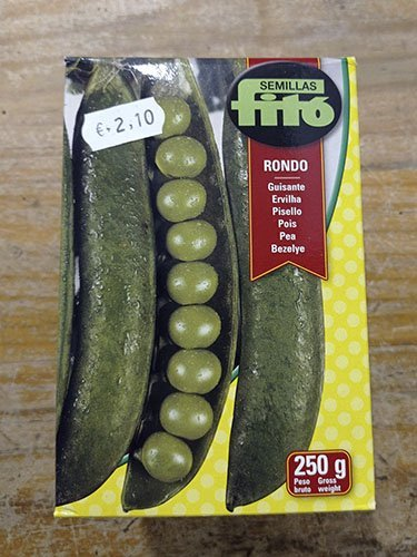 SEMILLA GUISANTE RONDO 250GR FITÓ