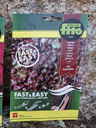 Semilla de lechuga en disco, cinta sembradoras, rápido y fácil, marca Fitó.